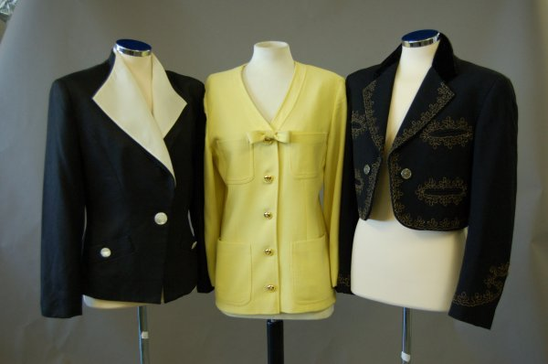 1015: A group of 1980s designer suits, jackets and sepa