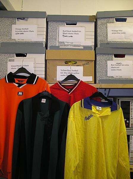2001: A large group of football strips and boots, inclu