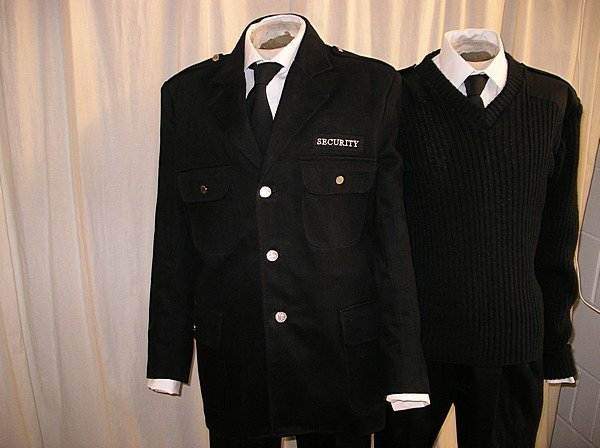 2004: A quantity of security uniforms and general work
