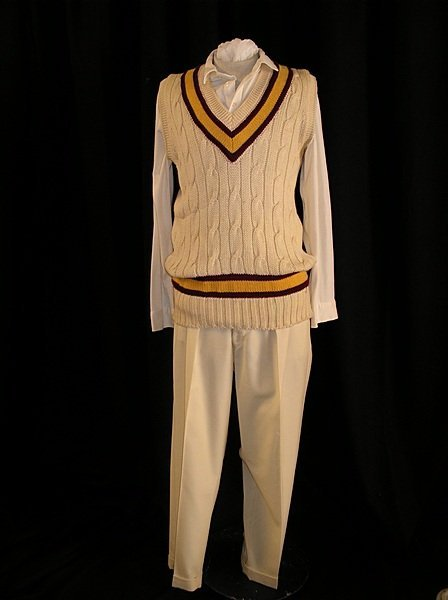 2014: A group of vintage cricket and tennis wear, inclu