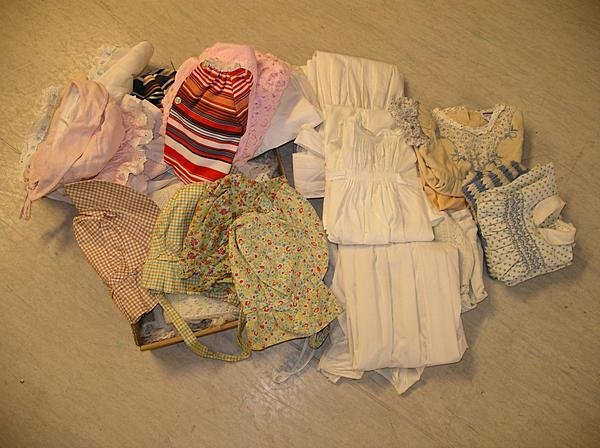 2017: A group of infant and baby clothes, including Vic