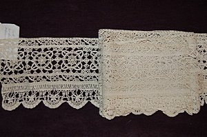 2: Two insertions of cutwork, Italian, 17th century, th