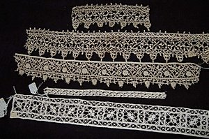 3: An interesting group of cutwork and needlepoint lace