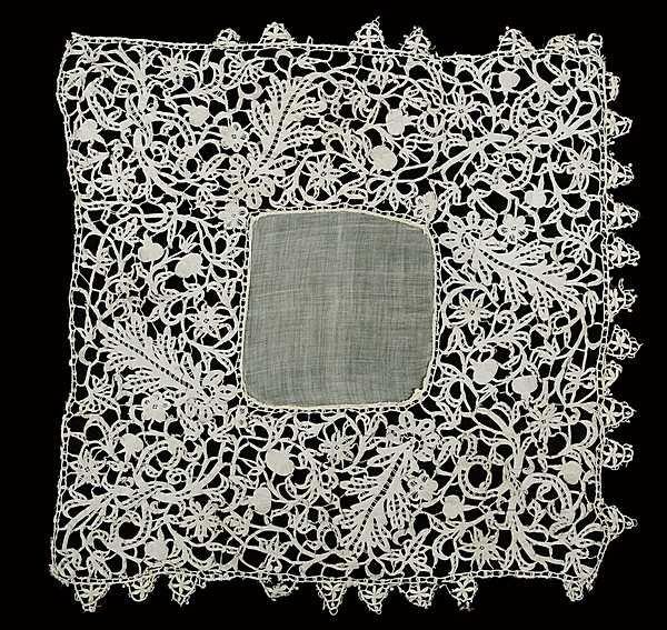 15: A handkerchief edged in Italian, late 16th-early 17