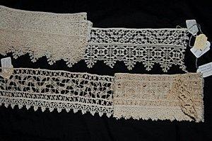 17: A group of cutwork insertions, mainly Italian, 17th