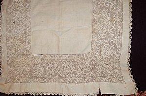 20: Three panels/covers of cutwork/buratto/lacis, Itali