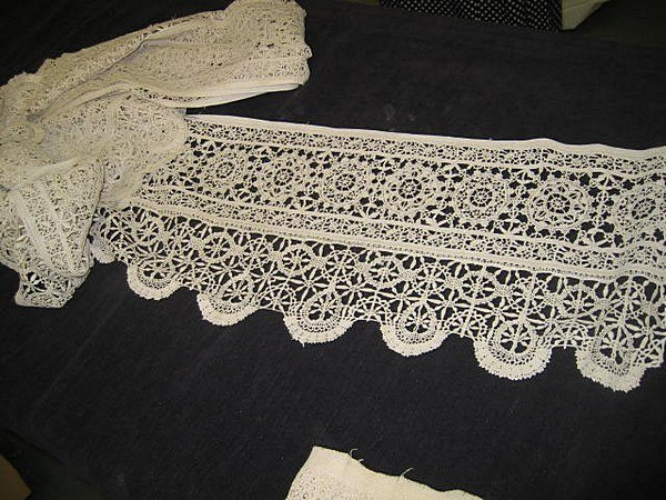 24: An interesting group of cutwork, needleweaving and