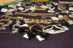 178: A general group of costume jewellery and sun-glass