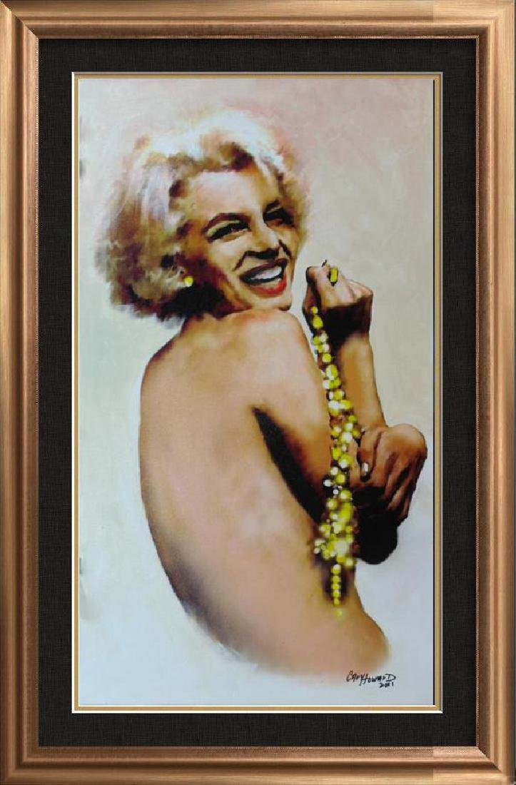 Marilyn Monroe Pearls Signed Original Painting On