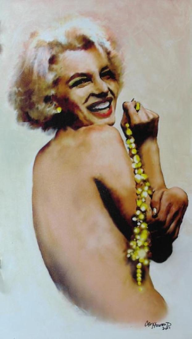 Marilyn Monroe Pearls Signed Original Painting On - 2