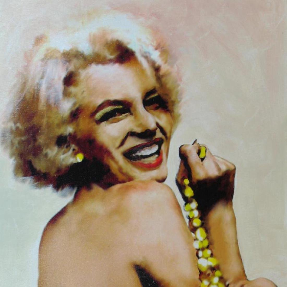 Marilyn Monroe Pearls Signed Original Painting On - 3