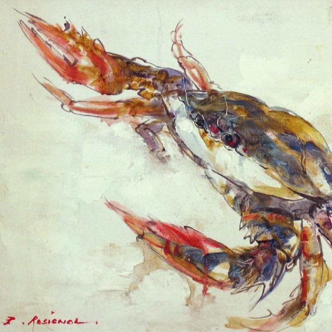 Lobster Colorful RARE SALE Framed Original Acrylic ART - 2