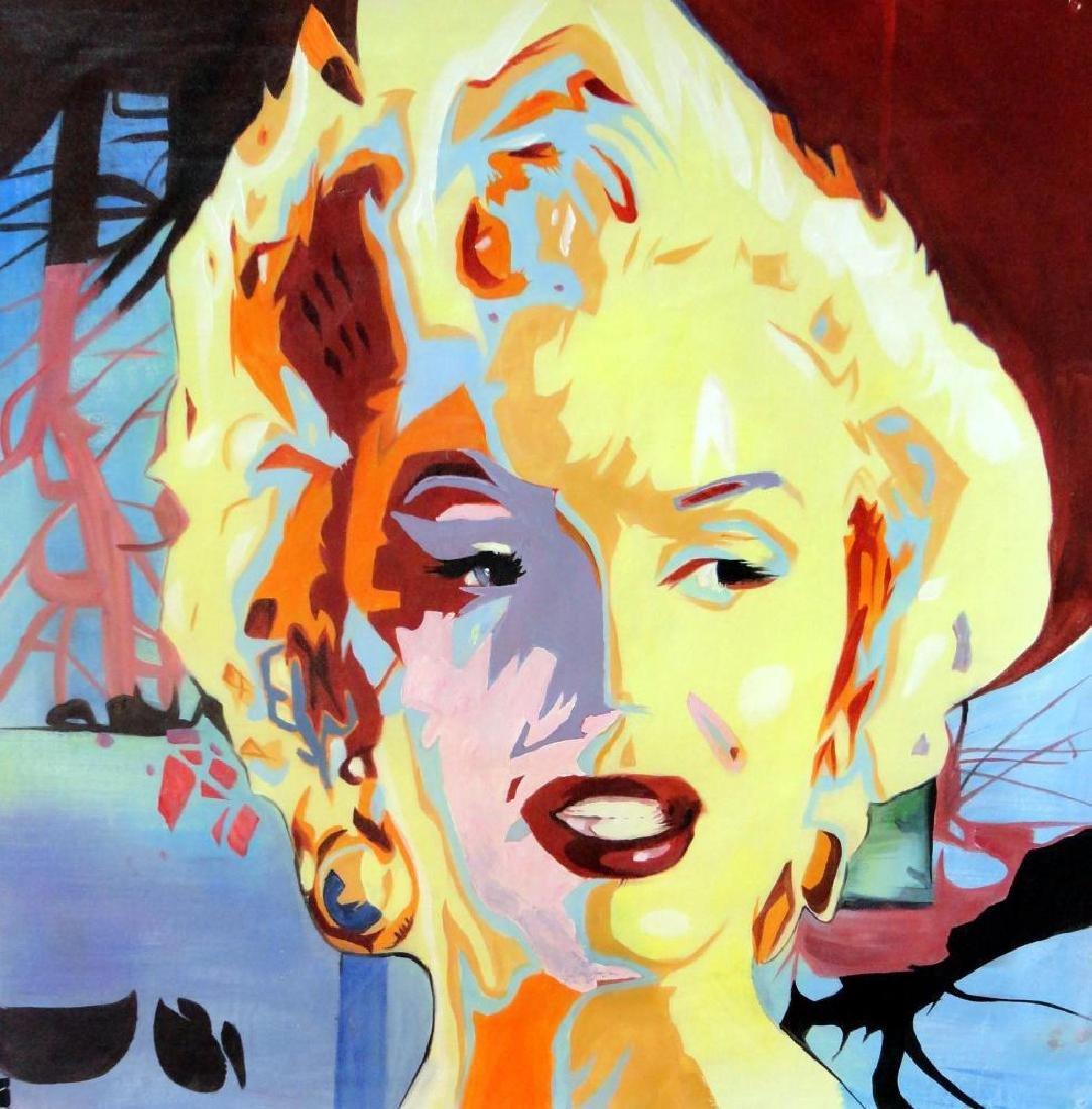 Warhol Inspired Marilyn Monroe Original Painting on - 2