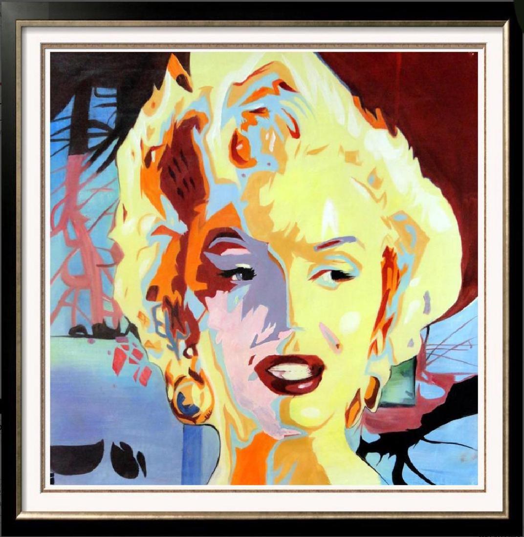 Warhol Inspired Marilyn Monroe Original Painting on - 3