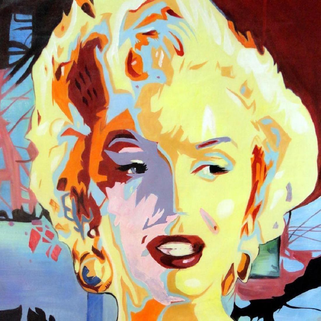 Warhol Inspired Marilyn Monroe Original Painting on - 4