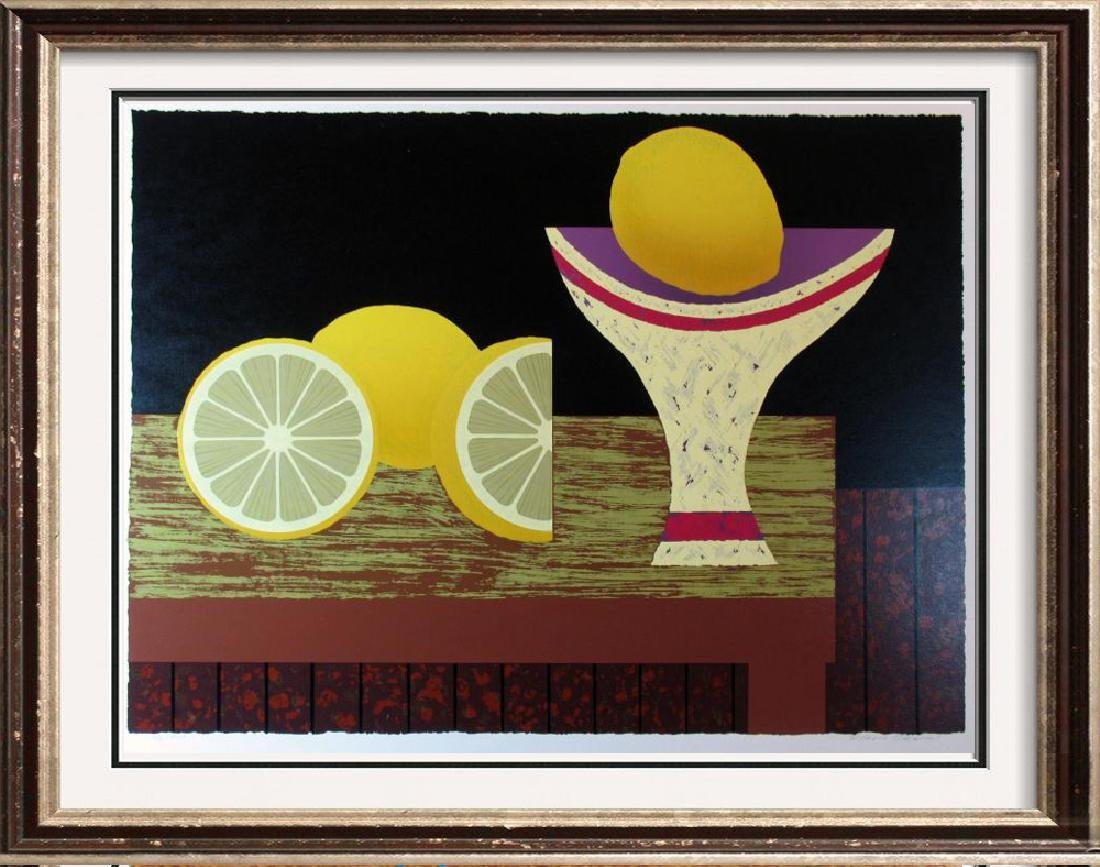 Lemon Abstract Bold Modern Figurative Dealer Sale