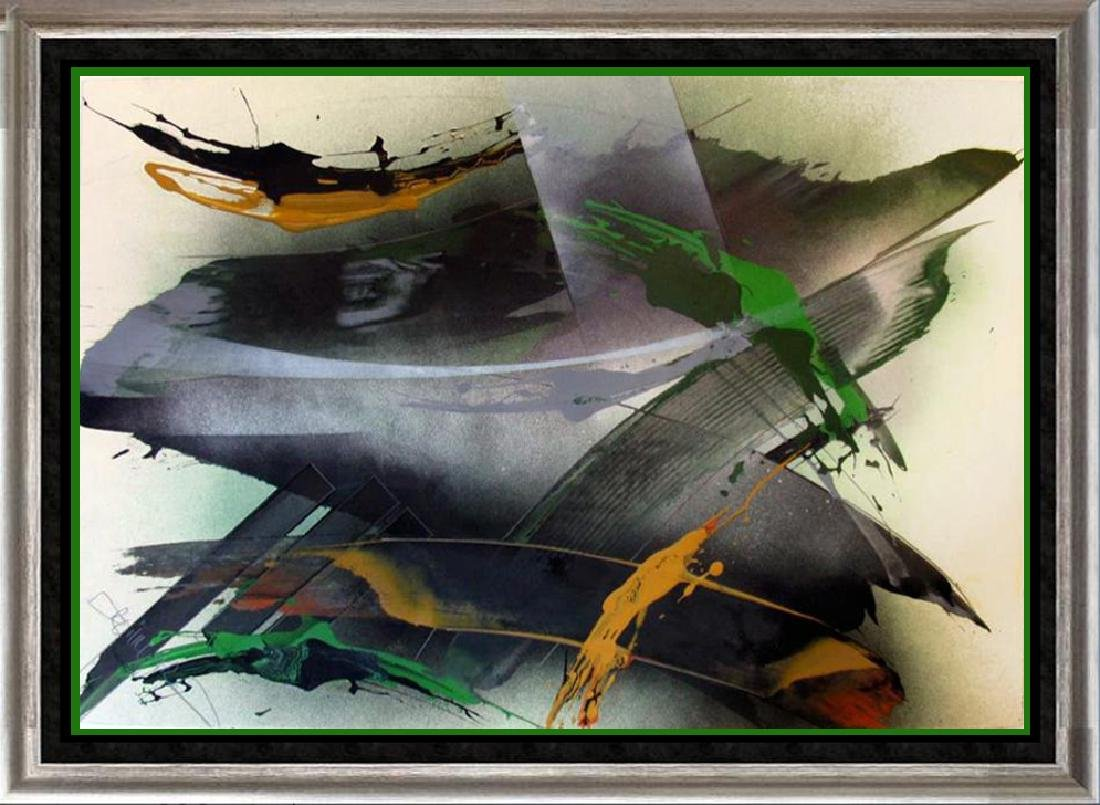 Emeral Green Abstract Original Painting Signed