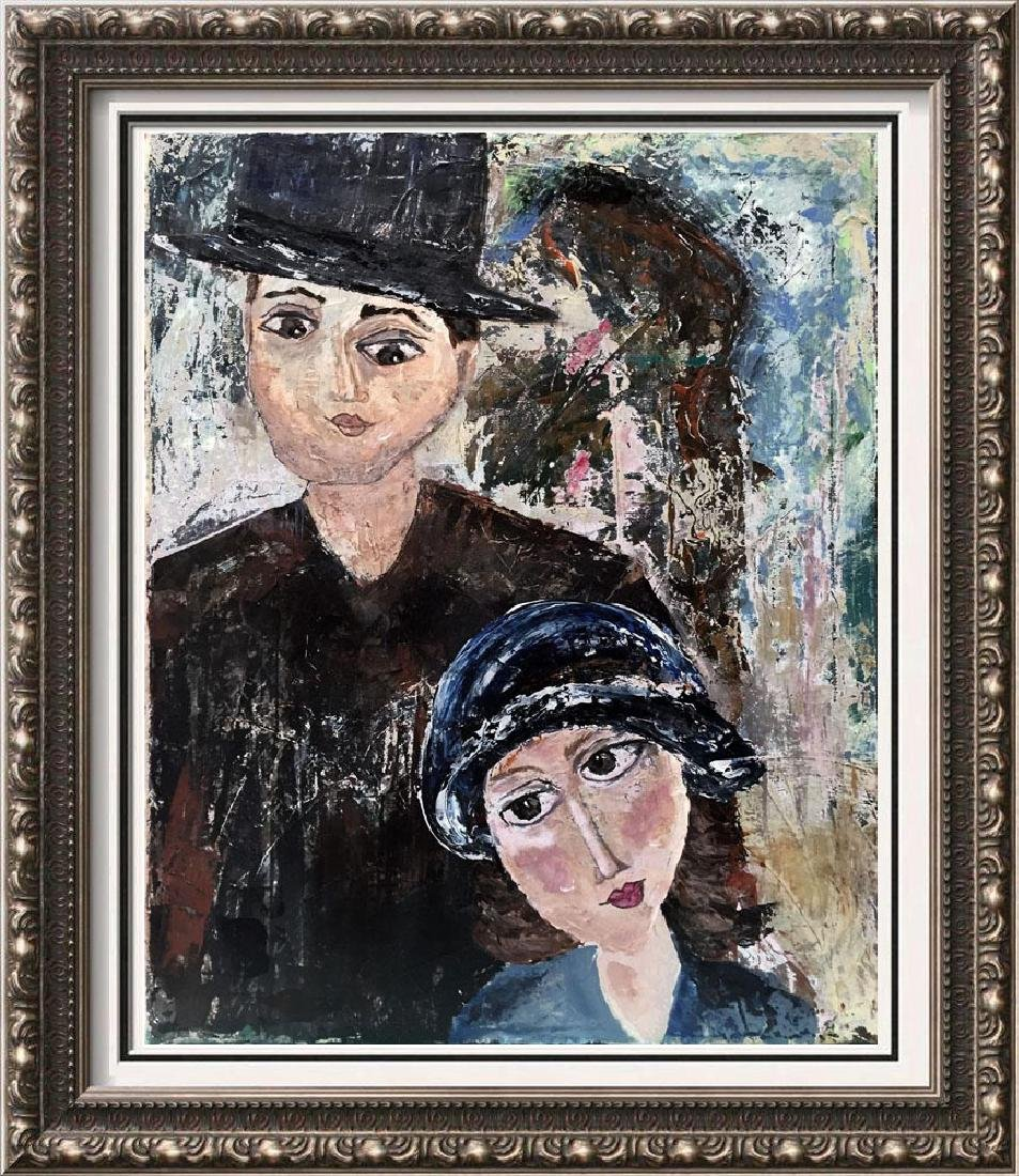 Modigliani style figurative abstract Art Dealers