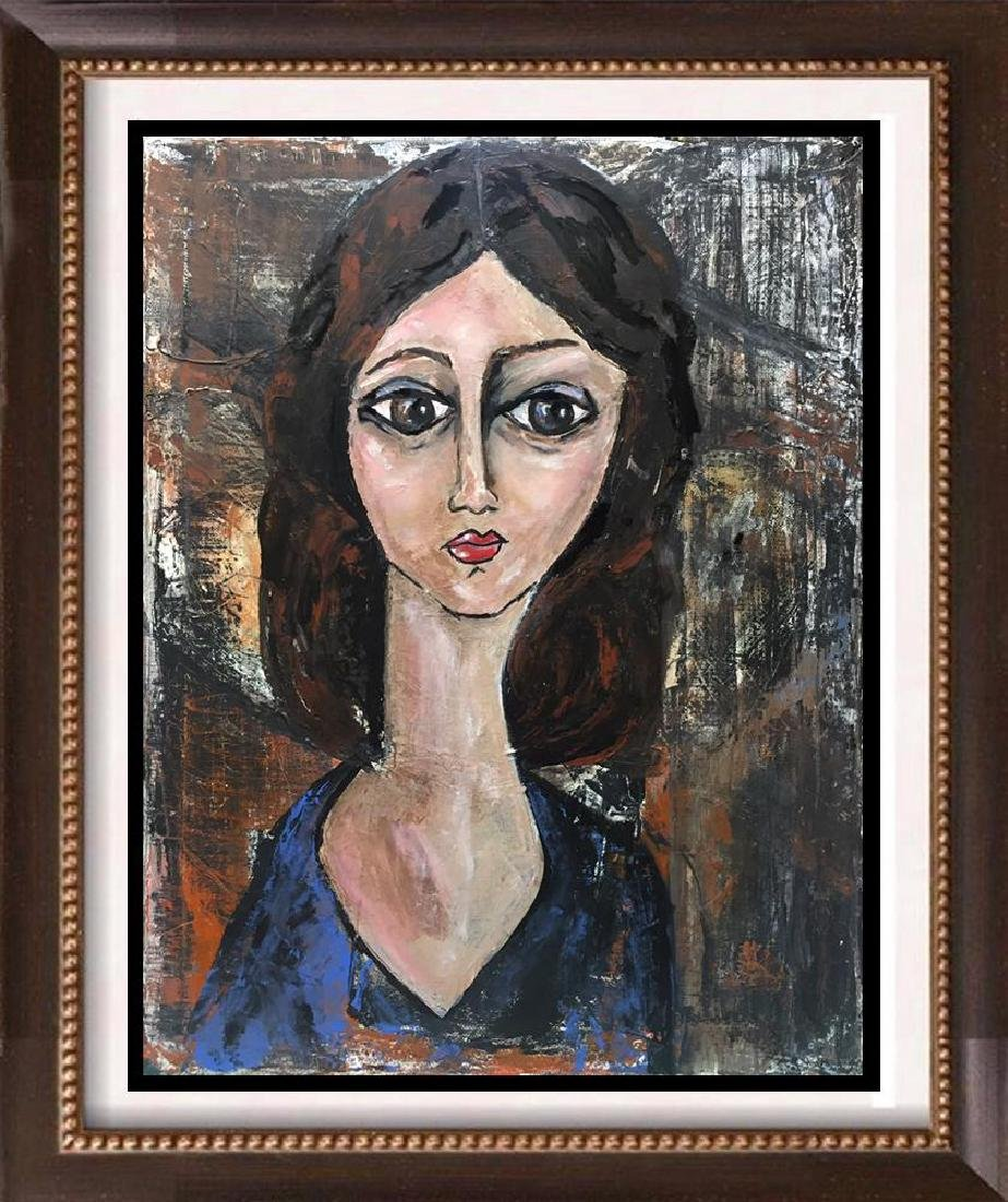 Janier Original Painting on Canvas Modigliani Style