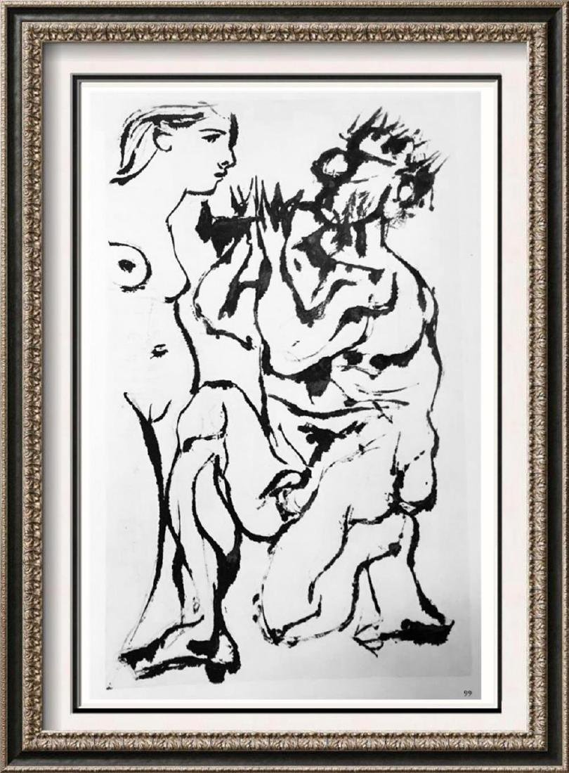 Pablo Picasso 'After'  Pan Plays to a Standing Woman c.