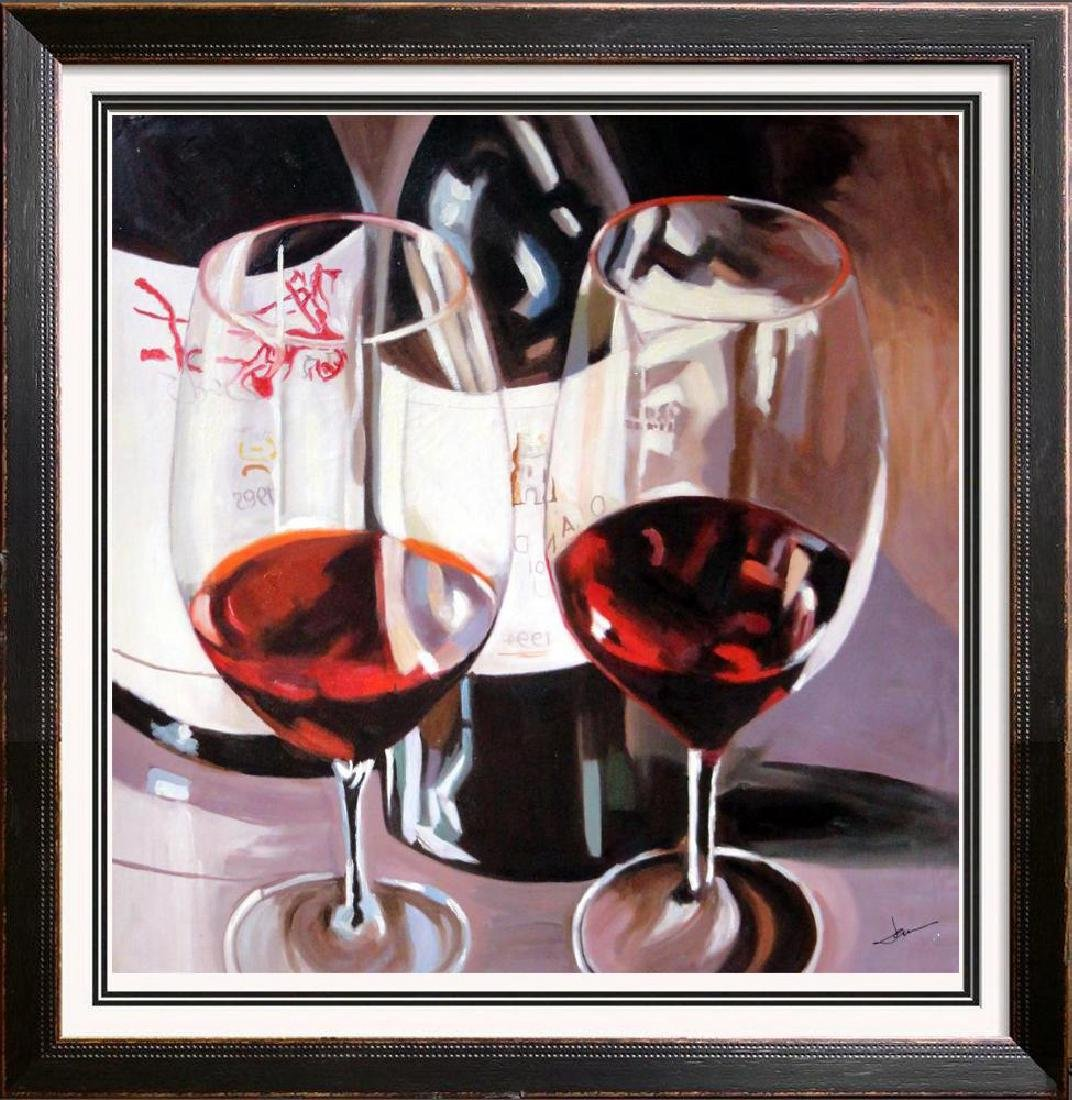Cabernet Large Realistic Janier Painting on Canvas