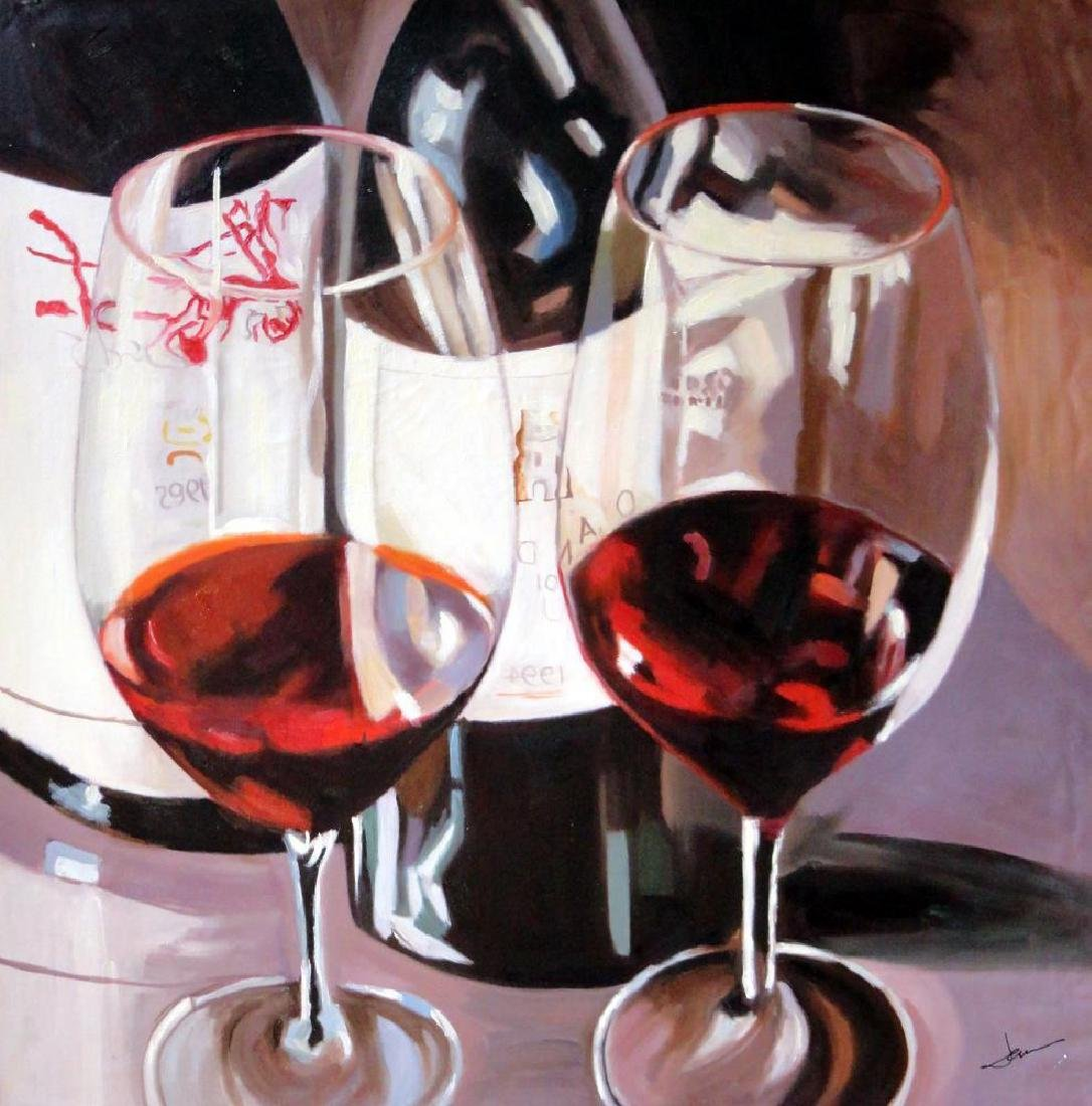 Cabernet Large Realistic Janier Painting on Canvas - 2