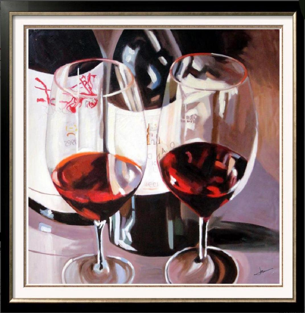 Cabernet Large Realistic Janier Painting on Canvas - 3
