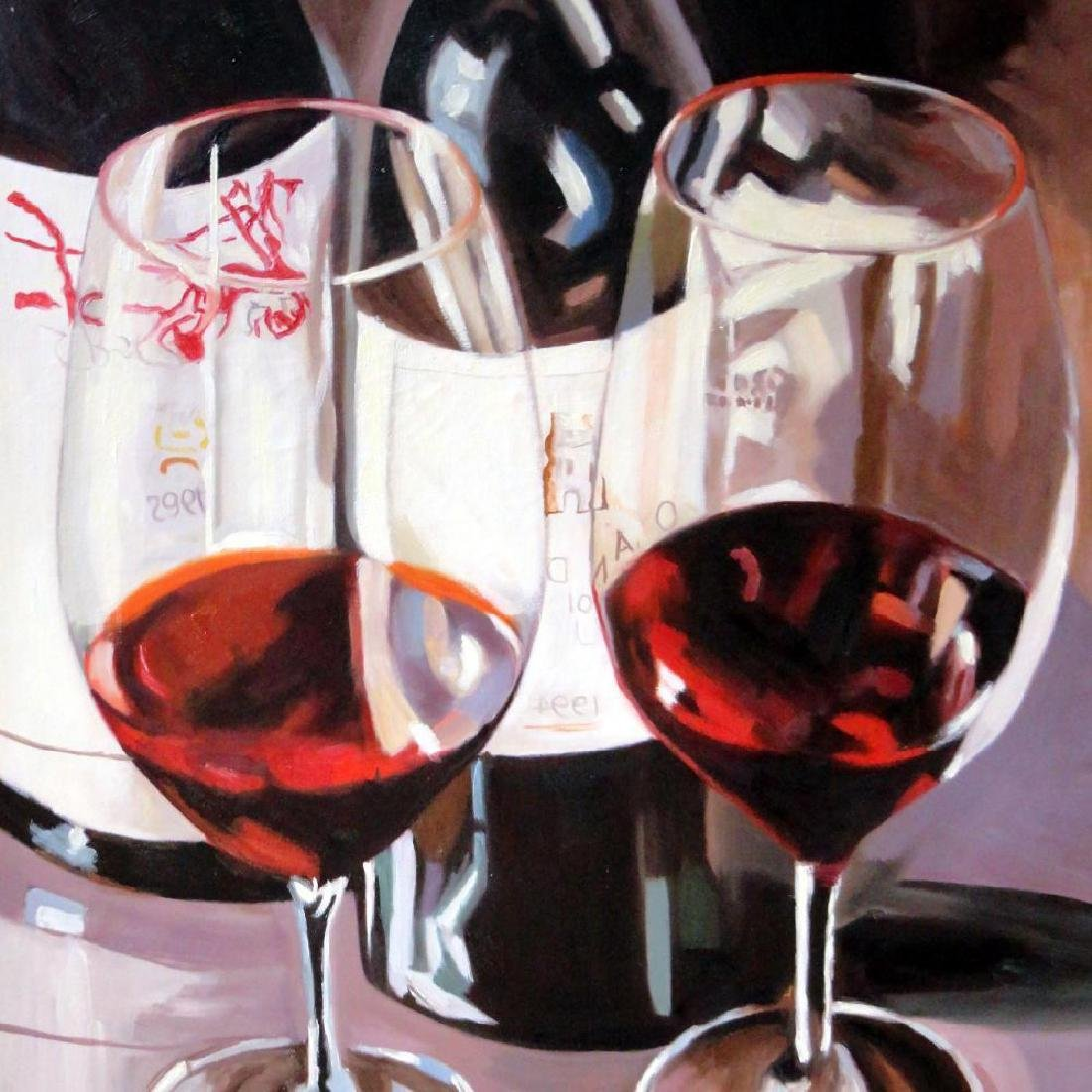 Cabernet Large Realistic Janier Painting on Canvas - 4
