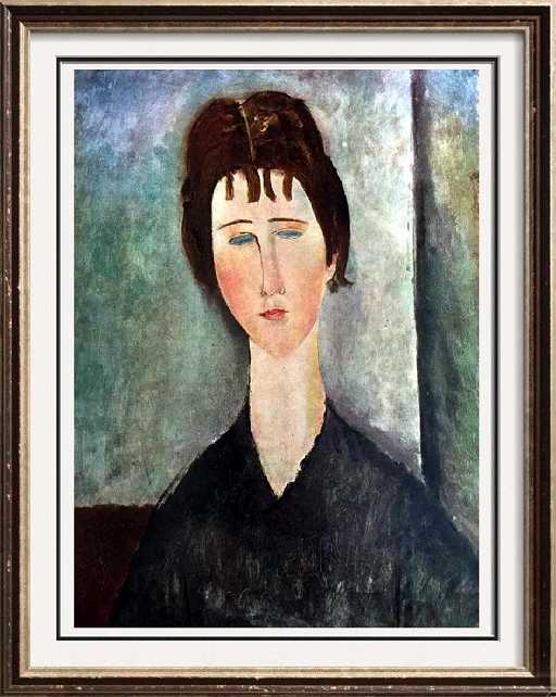77a4003fc95 Amedeo Modigliani Young Girl with Brown Hair c.1918