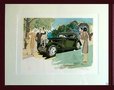 6489E: Delage Limited Edition Framed Auto Lithograph
