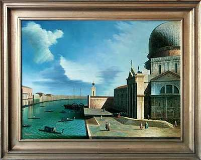 7163E: Realistic European Painting Museum Framed
