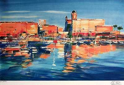 2049: Harbor Scene Colorful Only $100 Below Wholesale