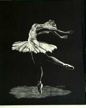 6341: Ballerina Lithograph Signed Limited Edition