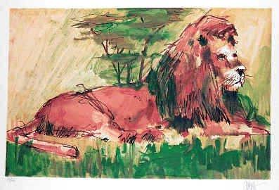 1277: Lion Neiman Style Limited Edition Liquidation Sal