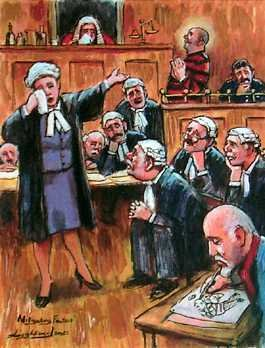 1554: Courtroom Art on Canvas Leighton Jones Limited Ed