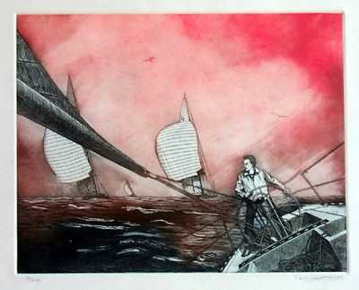 1650: Sailing Geygan Limited Edition Etching Wholesale