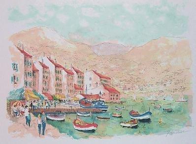 1829: Watercolor Style Huchet French Scene HUGE Sale
