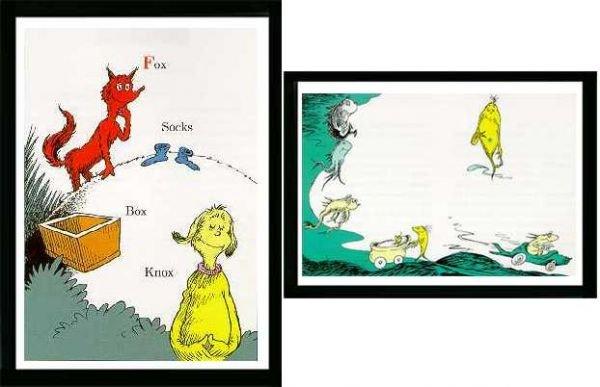 6057C: Two Dr Seuss Lithos Fox in Socks & One Fish Ltd