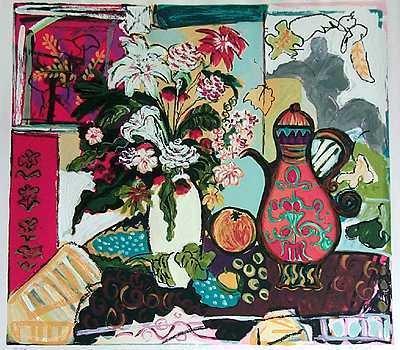 91: Israeli Art Bracha Guy Aroma Sold Out Ltd Ed RARE