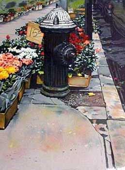 746D: Fire Plug Charming Floral Ltd Ed Correale Rare Sa