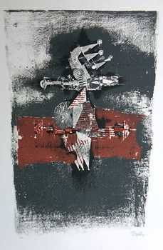 1144: Johnny Friedlander Museum Art Ltd Ed Etching Sign