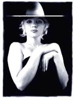 6846: Black & White Marilyn Monroe Top Hat Ltd Ed RARE