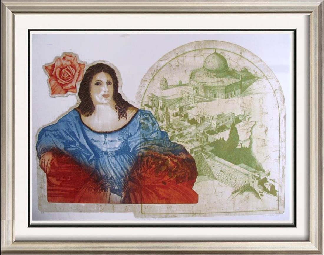 Russian Artist Etching Jerusalem Rare Ltd Ed Sale