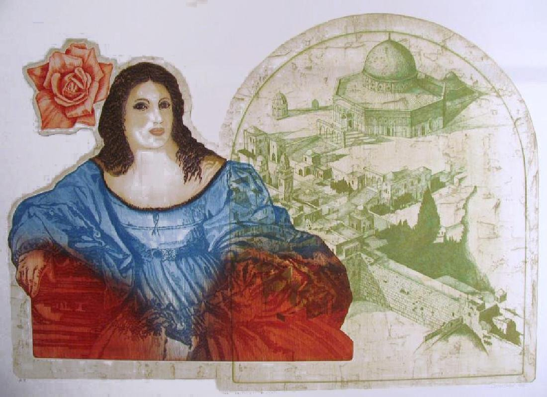 Russian Artist Etching Jerusalem Rare Ltd Ed Sale - 2