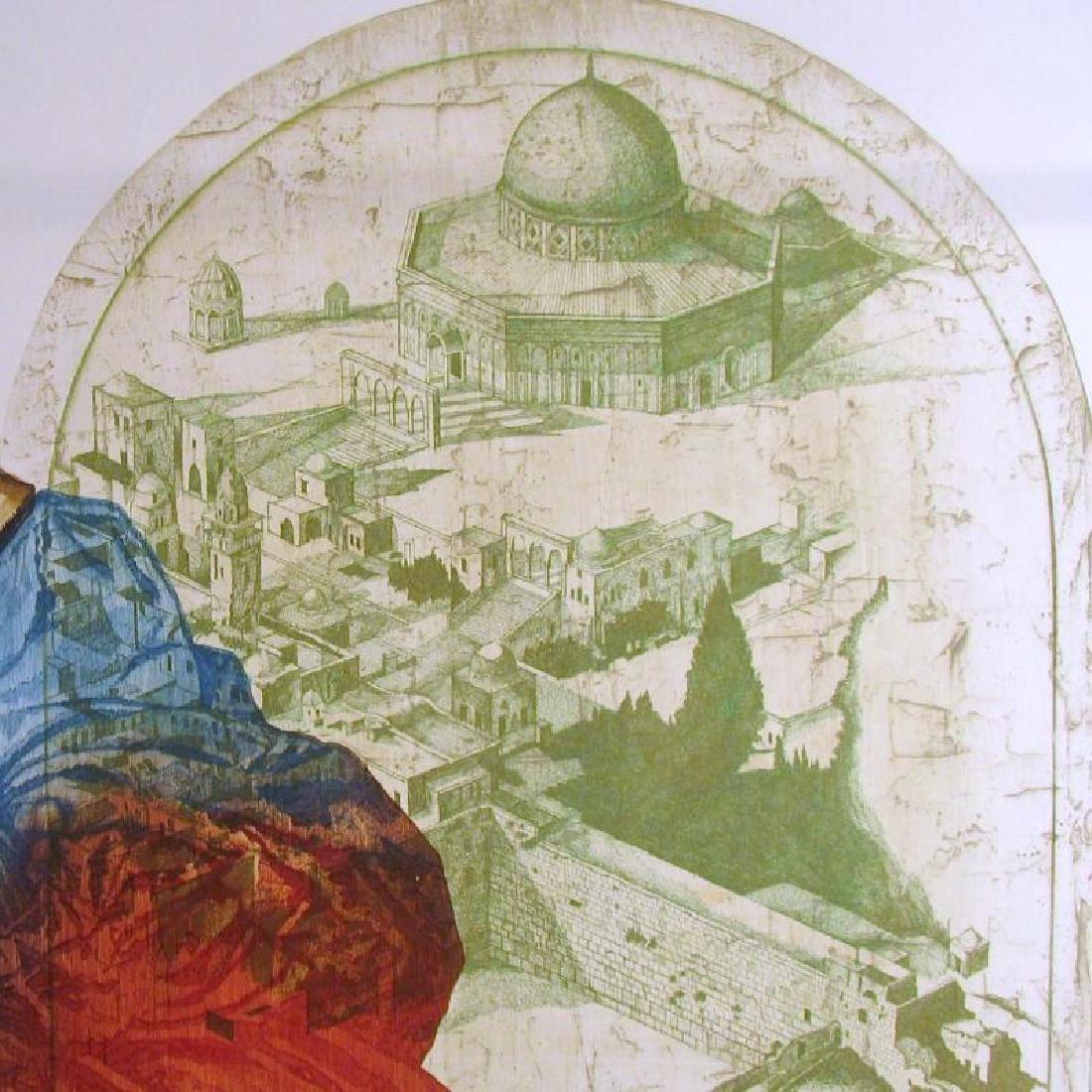 Russian Artist Etching Jerusalem Rare Ltd Ed Sale - 3