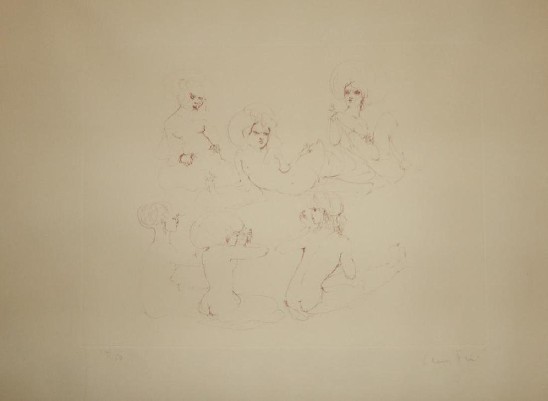Leonor Fini Rare 1980 Images of Nude Etching Hand - 2