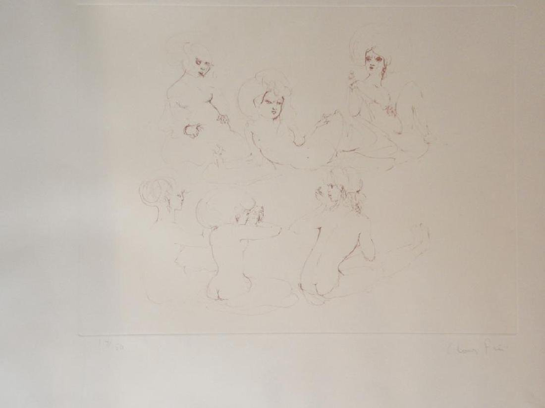 Leonor Fini Rare 1980 Images of Nude Etching Hand - 9