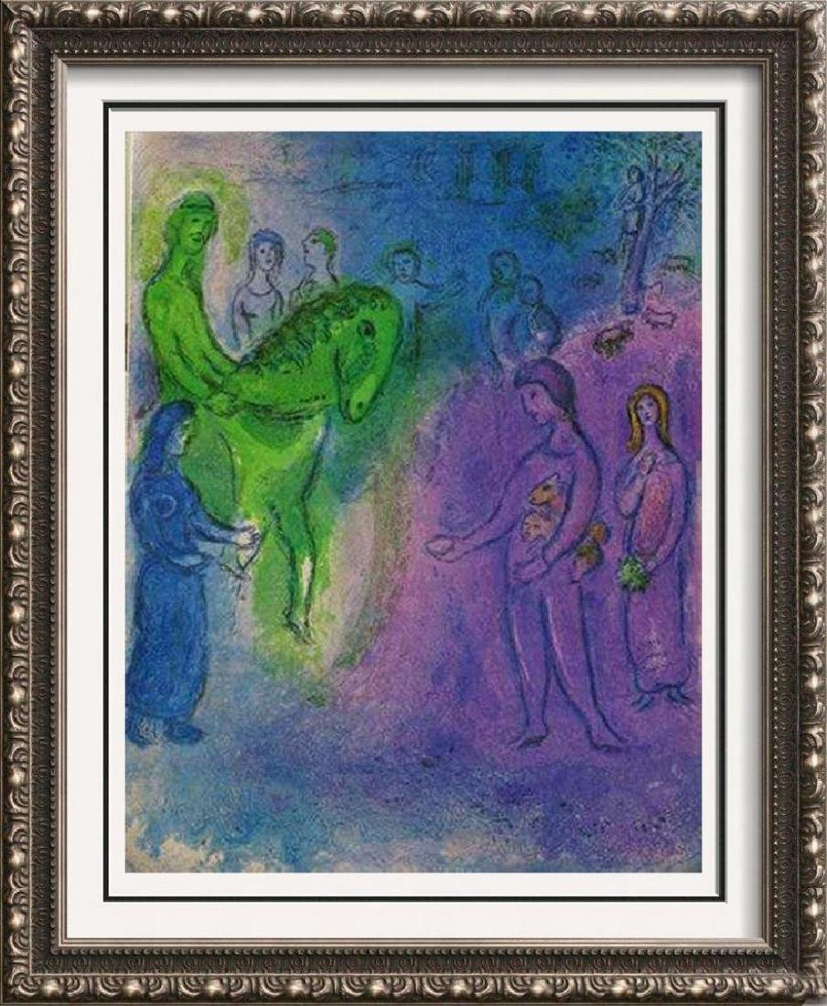 Messiah Marc Chagall Colored Litho Huge Sale Rare