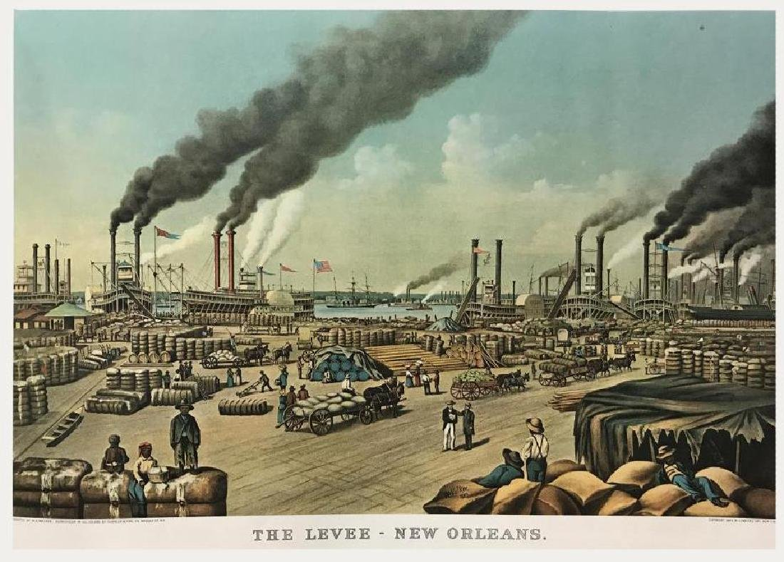 Roy King c.1987 The Levee New Orleans Heart Of A River - 2