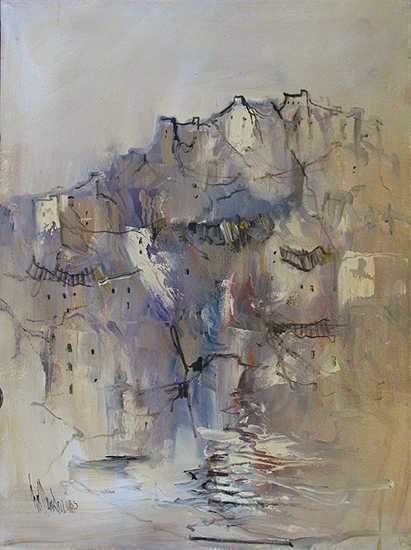 59: Hollander Abstract Original Painting Canvas Sale